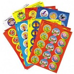 Trend Enterprises Praise Word Stinky Stickers, Round, Scratch/Sniff, 288/Pack
