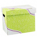 "Trend Enterprises Folder/File Storage Box, Letter Sizes, 12 1/4""x8""x10 1/4"""