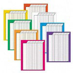"Trend Enterprises Vertical Incentive Chart with 50 Rows and 30 Columns, 22""x28"", 8/Pack"