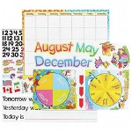 Trend Enterprises 2010 Monthly Calendar Bulletin Board Set with 50 Cutouts and 50 Cling Pieces