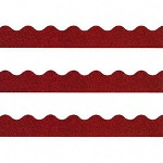 "Trend Enterprises Sparkle Trimmers, 2 1/4""x32 1/2', Red Sparkle"