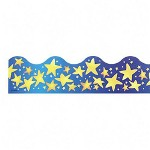 "Trend Enterprises Star Bright Trimmers, 2 1/4""x39', Blue/Yellow"