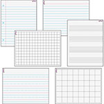 "Trend Enterprises Paper/Grids Wipe-Off Combo Pack, 17"" x 22"", 6/PK"