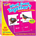"Trend Enterprises Puzzle, What Goes Together, 3""Wx3""H, MI"