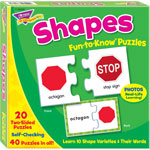 "Trend Enterprises Puzzle, Shapes, 3""Wx3""H, MI"