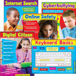 Trend Enterprises Learning Chart Combo Pack, Technology, Online Safety, 18w x 27 1/4h, 5/Set