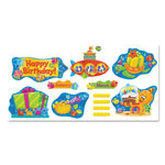 Trend Enterprises Sea Buddies Birthday Bulletin Board Set, 18 1/4 x 31, 110 Pieces