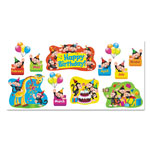 Trend Enterprises Monkey Mischief Birthday Bulletin Board Set, 18 1/4 x 31, 30 Pieces