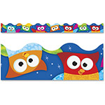 "Trend Enterprises Bolder Borders and Terrific Trimmers, Owl/Stars, 2 1/4"" x 39 ft"