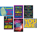 "Trend Enterprises Self Esteem Poster Set, 13-2/5"" x 19"", 6/PK"