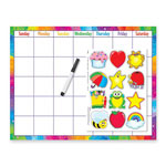 "Trend Enterprises Reusable Calendar Kit, w/ Cling Accent Wipe Off, 17"" x 22"""