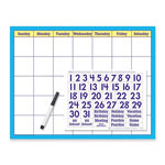 "Trend Enterprises Reusable Calendar Kit, w/ Cling Numerals Wipe Off, 17"" x 22"""