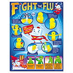 Trend Enterprises Fight the Flu Learning Chart, Motivational Print, 17 x 22, 12/Pack