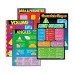 "Trend Enterprises Geometry Learning Chart Combo Pack, 17"" x 24"""