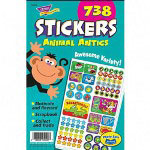 Trend Enterprises Animal Antics Sticker Pad, 738 Stickers