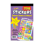Trend Enterprises Super Stars & Smiles Sticker Pad, , 738 Stickers