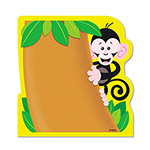 "Trend Enterprises Note Pad with Monkey Design, 5"" x 5"""
