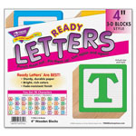 "Trend Enterprises Ready Letters, 3-D Combo, 4"", Wooden Blocks"