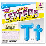 "Trend Enterprises Ready Letters Gems Letter Combo Pack, Blue Gem, 4""h, 199 per set"
