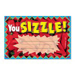 "Trend Enterprises Recognition Awards, You Sizzle, 8 1/2"" w x 5 1/2"" h"