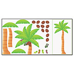 Trend Enterprises Palm Tree Bulletin Board Set, 46w x 72h