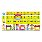 Trend Enterprises Bulletin Board Set, Number Line, Owl-Stars, 40 ft, 49 Pieces/Kit
