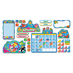 Trend Enterprises Sea Buddies Calendar Bulletin Board Set, 17 1/2 x 23, 105 Pieces/Kit