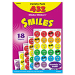 Trend Enterprises Stinky Stickers Variety Pack, Smiles, 432/Pack