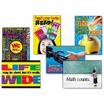 Trend Enterprises Poster Combo Pack, School is Cool, K-7, 6 Posters, 13 3/8 x 19