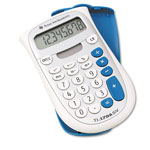 Texas Instruments TI-1706SV Handheld Pocket Calculator, Battery/Solar, 8 Digit LCD Display