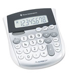 Texas Instruments TI-1795SV Minidesk Calculator, Solar/Battery, 8 Digit Display