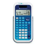 "Texas Instruments Scientific Calculator, 4-Line, Dual Pwr, 3-1/5""x6-1/10""x3/4"", Beige"