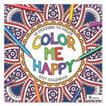 TF Publishing Color Me Happy Wall Calendar, 12 x 12, 2017