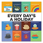 TF Publishing Every Day's A Holiday Box Calendar, 5 1/2 x 5 1/2, 2017