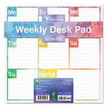 TF Publishing Color Me Weekly Desk Pad, 7 3/4 x 7 3/4, Undated