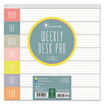 TF Publishing Glory Days Weekly Desk Pad, 7 3/4 x 7 3/4, Undated