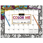 TF Publishing 2018 Color Me Desk Blotter, 22 x 17, Coloring