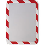 Tarifold High Visibility Safety Frame Display Pocket-Self Adhesive,10 1/4 X 14 1/2, RD/WH