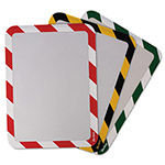 Tarifold High Visibility Safety Frame Display Pocket-Self Adhesive, 10 1/4 X 14 1/2, GN/W