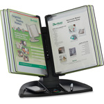 Tarifold Design Display Desk Stand, 20Sht Cap, Black