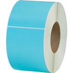 "Box Partners 4"" x 6"" Light Blue Thermal Transfer Labels"