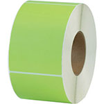 "Box Partners 4"" x 6"" Green Thermal Transfer Labels"