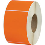 "Box Partners 4"" x 6"" Orange Thermal Transfer Labels"