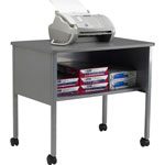 Creative Office Seating Mobile Machine Stand with Open Storage Shelf, Gray/Gray, 30w x 21d x 26 1/2h