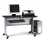 Mayline Mobile Work Table, Charcoal Gray, 47 1/4w x 24d x 28 1/2h