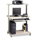Creative Office Seating Seating 8350MRGRYGRY Multimedia Mobile Workstation, Gray