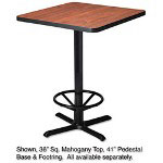 "Mayline Table Base For 30"" Round Or Square Table Tops, 41""h, Black"