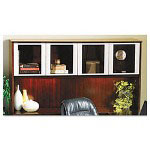 Mayline Corsica Hutch with Glass Doors, 72w x 15d x 39h, Sierra Cherry