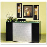 Mayline Eclipse Series Reception Desk Shell, 72w x 36d x 43-1/2h, Espresso