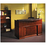 Mayline Sorrento Reception Desk Screen With Marble Counter, 72w x 38-1/2d x 15-1/2h